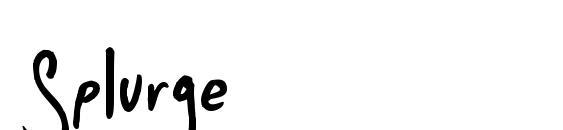 шрифт Splurge, бесплатный шрифт Splurge, предварительный просмотр шрифта Splurge