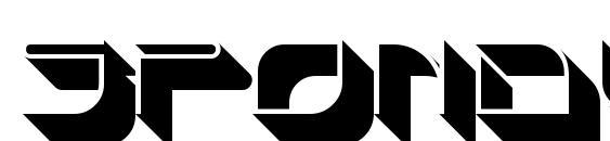 шрифт SpondulixNF, бесплатный шрифт SpondulixNF, предварительный просмотр шрифта SpondulixNF