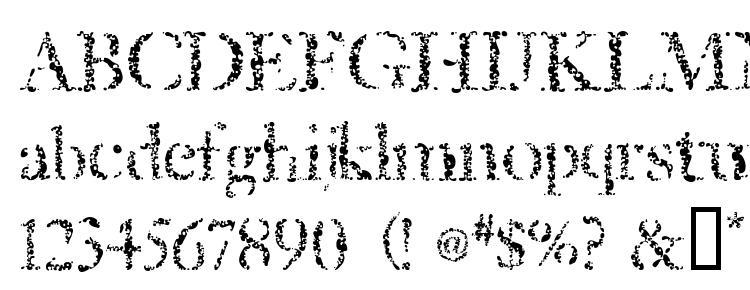глифы шрифта Sponged, символы шрифта Sponged, символьная карта шрифта Sponged, предварительный просмотр шрифта Sponged, алфавит шрифта Sponged, шрифт Sponged