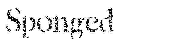 Шрифт Sponged
