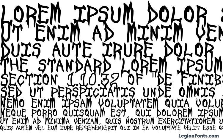 specimens Spookshow undead font, sample Spookshow undead font, an example of writing Spookshow undead font, review Spookshow undead font, preview Spookshow undead font, Spookshow undead font