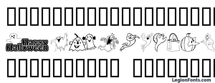 glyphs Spooky font, сharacters Spooky font, symbols Spooky font, character map Spooky font, preview Spooky font, abc Spooky font, Spooky font