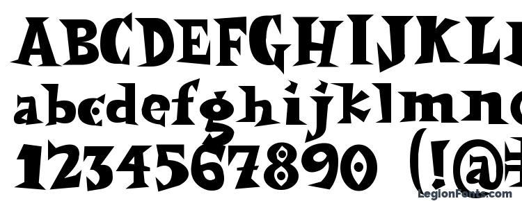 глифы шрифта Spookymagic, символы шрифта Spookymagic, символьная карта шрифта Spookymagic, предварительный просмотр шрифта Spookymagic, алфавит шрифта Spookymagic, шрифт Spookymagic