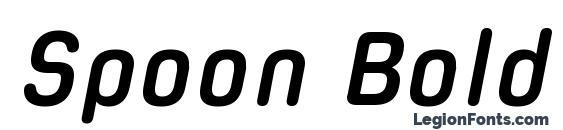 Spoon Bold Italic Font