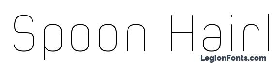 Spoon Hairline Font