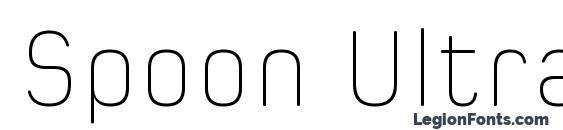 Spoon Ultra Light font, free Spoon Ultra Light font, preview Spoon Ultra Light font