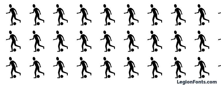 глифы шрифта Sportsfigures regular, символы шрифта Sportsfigures regular, символьная карта шрифта Sportsfigures regular, предварительный просмотр шрифта Sportsfigures regular, алфавит шрифта Sportsfigures regular, шрифт Sportsfigures regular
