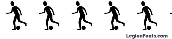 шрифт SportsFigures, бесплатный шрифт SportsFigures, предварительный просмотр шрифта SportsFigures