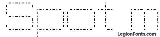 Шрифт Spot matrix