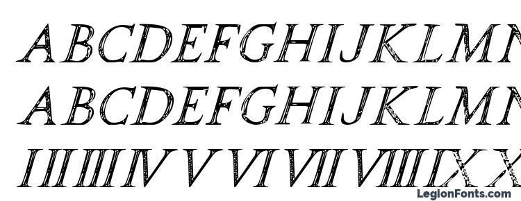 глифы шрифта SPQR Italic, символы шрифта SPQR Italic, символьная карта шрифта SPQR Italic, предварительный просмотр шрифта SPQR Italic, алфавит шрифта SPQR Italic, шрифт SPQR Italic