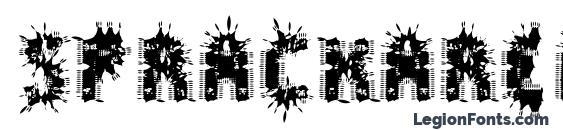 шрифт Spräckaren, бесплатный шрифт Spräckaren, предварительный просмотр шрифта Spräckaren