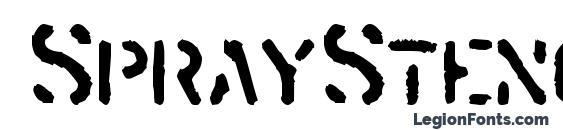 Шрифт SprayStencil