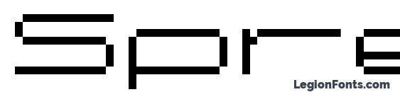 Шрифт Spreadbita10