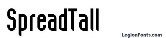 SpreadTall Font