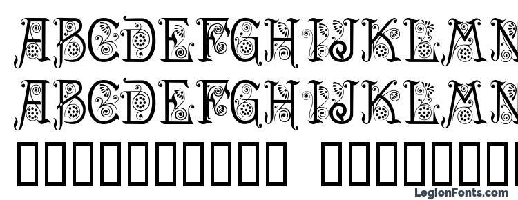глифы шрифта Spring, символы шрифта Spring, символьная карта шрифта Spring, предварительный просмотр шрифта Spring, алфавит шрифта Spring, шрифт Spring