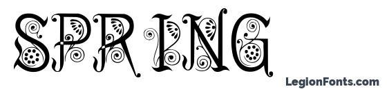 Spring font, free Spring font, preview Spring font
