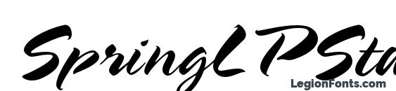 шрифт SpringLPStd, бесплатный шрифт SpringLPStd, предварительный просмотр шрифта SpringLPStd