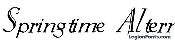 шрифт Springtime Alternate, бесплатный шрифт Springtime Alternate, предварительный просмотр шрифта Springtime Alternate