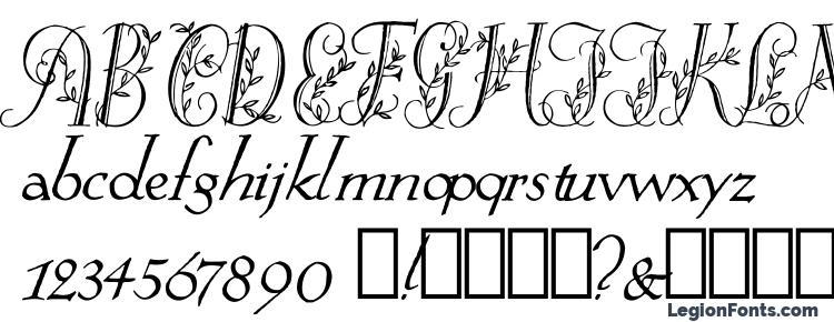 glyphs Springtime Flourish font, сharacters Springtime Flourish font, symbols Springtime Flourish font, character map Springtime Flourish font, preview Springtime Flourish font, abc Springtime Flourish font, Springtime Flourish font