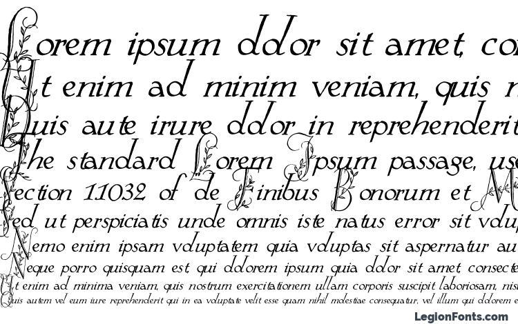 specimens Springtime Flourish font, sample Springtime Flourish font, an example of writing Springtime Flourish font, review Springtime Flourish font, preview Springtime Flourish font, Springtime Flourish font