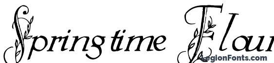 Шрифт Springtime Flourish