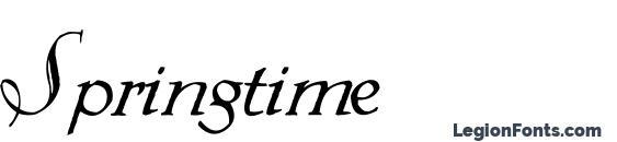 Springtime font, free Springtime font, preview Springtime font