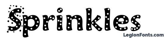Шрифт Sprinkles