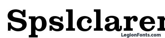 Шрифт Spslclarendonc bold