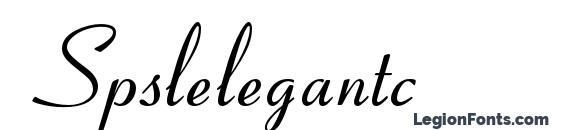 Spslelegantc font, free Spslelegantc font, preview Spslelegantc font