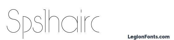 Spslhairc font, free Spslhairc font, preview Spslhairc font