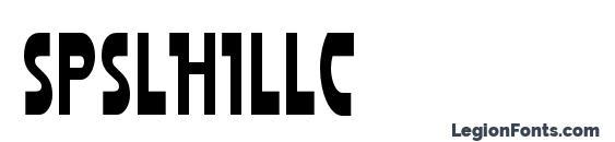 Шрифт Spslhillc