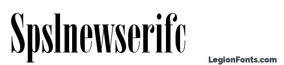 Spslnewserifc font, free Spslnewserifc font, preview Spslnewserifc font