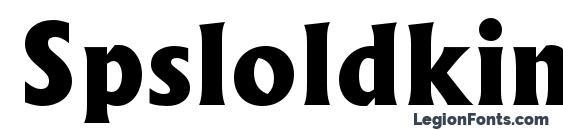 Шрифт Spsloldkingc bold