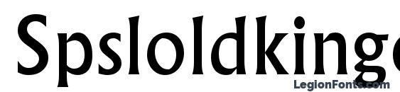 Spsloldkingc Font