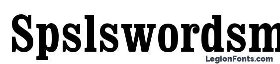 Spslswordsmanc Font