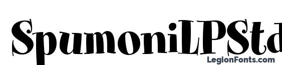 SpumoniLPStd font, free SpumoniLPStd font, preview SpumoniLPStd font
