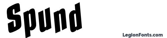 Spund font, free Spund font, preview Spund font