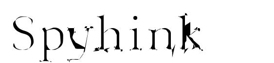 Spyhink font, free Spyhink font, preview Spyhink font