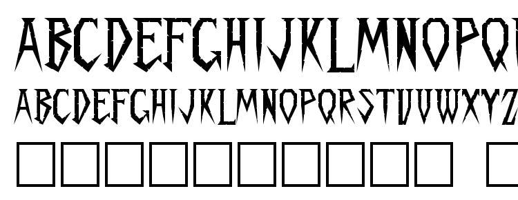 глифы шрифта Spykker regular, символы шрифта Spykker regular, символьная карта шрифта Spykker regular, предварительный просмотр шрифта Spykker regular, алфавит шрифта Spykker regular, шрифт Spykker regular