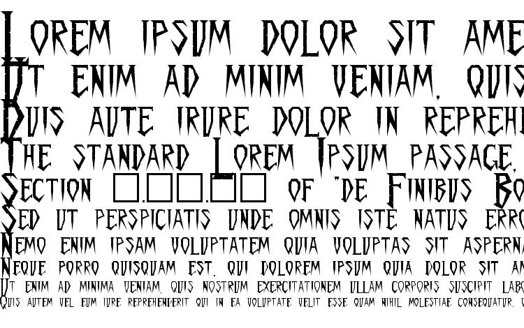 specimens Spykker regular font, sample Spykker regular font, an example of writing Spykker regular font, review Spykker regular font, preview Spykker regular font, Spykker regular font