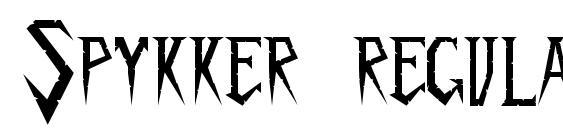 Spykker regular Font
