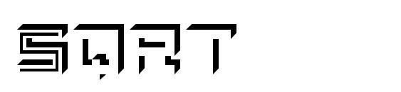 Шрифт Sqrt