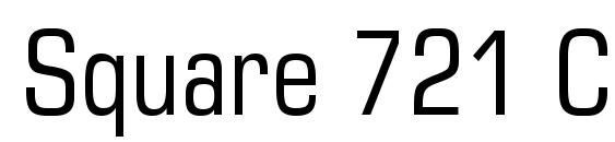 Square 721 Condensed BT Font