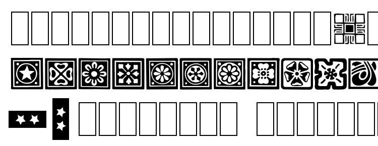 глифы шрифта Square Ornaments, символы шрифта Square Ornaments, символьная карта шрифта Square Ornaments, предварительный просмотр шрифта Square Ornaments, алфавит шрифта Square Ornaments, шрифт Square Ornaments