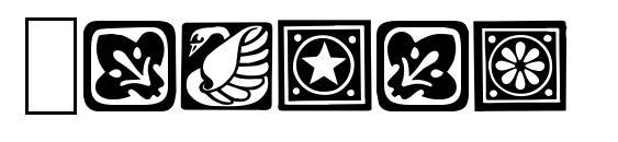 шрифт Square Ornaments, бесплатный шрифт Square Ornaments, предварительный просмотр шрифта Square Ornaments