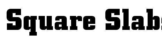 Square Slabserif 711 Bold BT Font