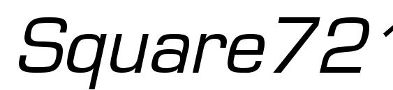 Square721 BT Italic Font