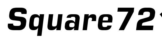 Square721 Dm Italic Font
