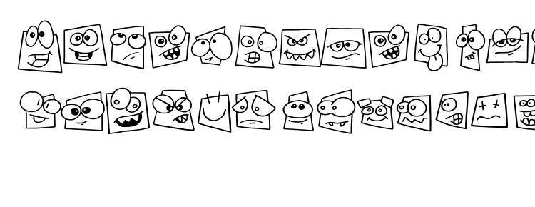 glyphs Squareheads font, сharacters Squareheads font, symbols Squareheads font, character map Squareheads font, preview Squareheads font, abc Squareheads font, Squareheads font