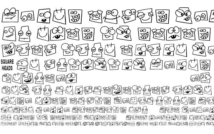 specimens Squareheads font, sample Squareheads font, an example of writing Squareheads font, review Squareheads font, preview Squareheads font, Squareheads font